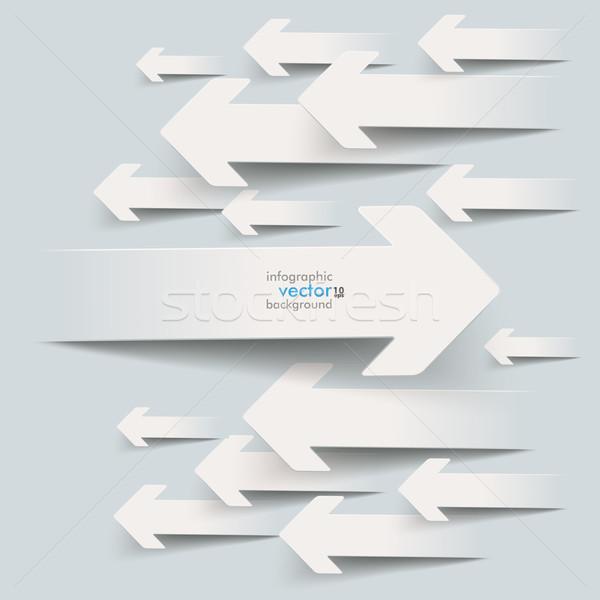 Papier blanche gris eps 10 Photo stock © limbi007