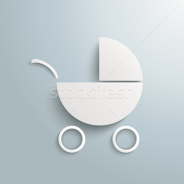 White Paper Baby Buggy Stock photo © limbi007