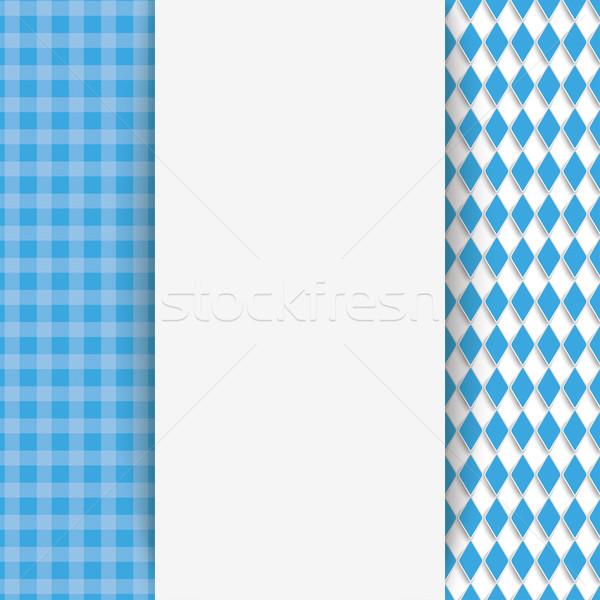 Checked Cloth Oblong Banner Oktoberfest Stock photo © limbi007
