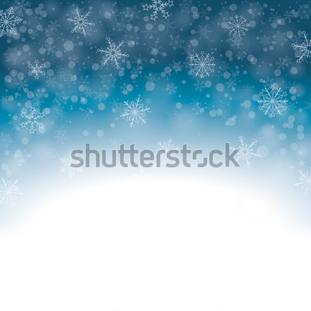 Christmas Snowflake Lights Blue Sky  Stock photo © limbi007