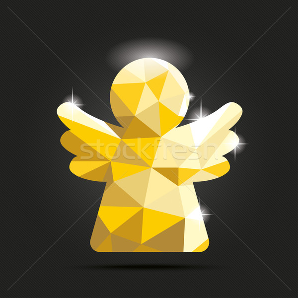 Low Poly Design Angel Dark Background Stock photo © limbi007
