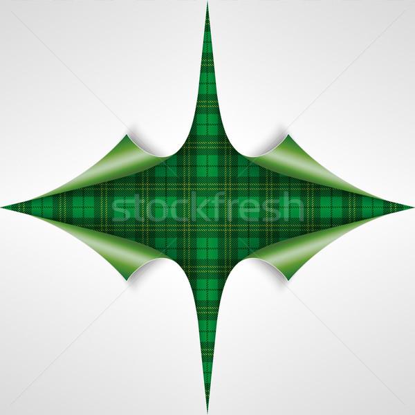 St. Patricks Day Vintage Tartan Cover 4 Scrolled Corners Stock photo © limbi007