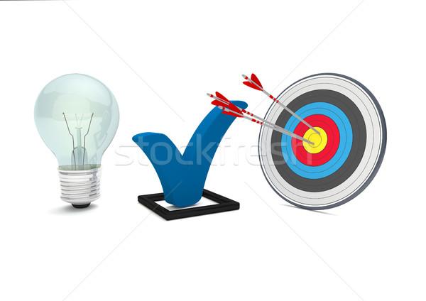 Bulb Tick Target Stock photo © limbi007