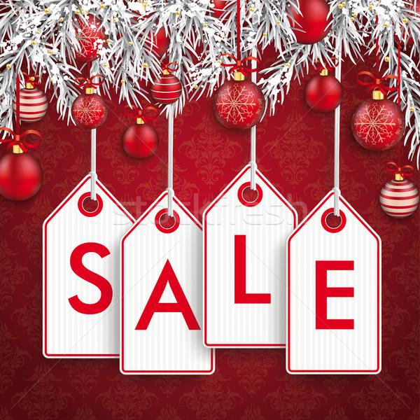 Noël ornements vente prix vignette autocollants Photo stock © limbi007