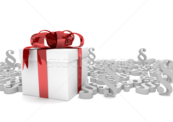 Gift Carton White Paragraphs Stock photo © limbi007