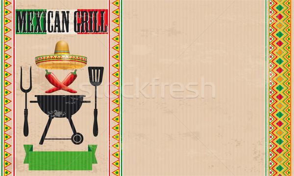 Mexican Grill Chili Vintage Stock photo © limbi007