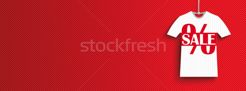 Hanging T-Shirt Price Stickers Summer Sale Header Stock photo © limbi007