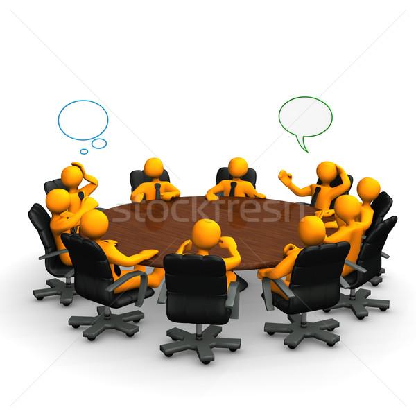 Konferans turuncu karikatür arkasında tablo Stok fotoğraf © limbi007