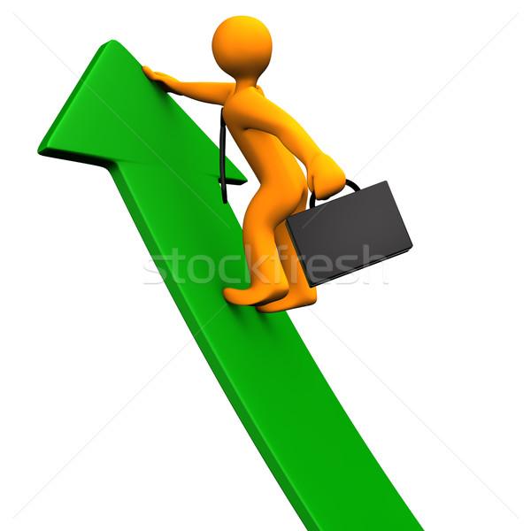 Career Success Green Arrow Stock photo © limbi007