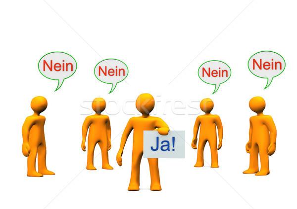 Zdjęcia stock: Tak · nie · pomarańczowy · cartoon · tekst