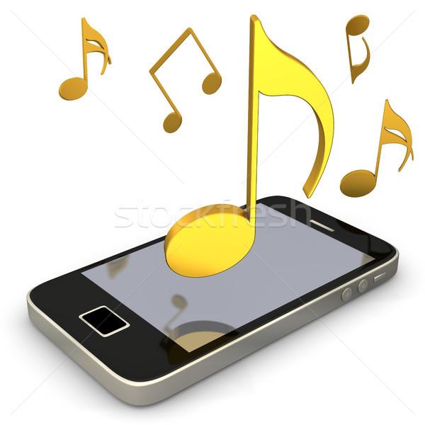 Smartphone muziek merkt gouden witte partij internet Stockfoto © limbi007