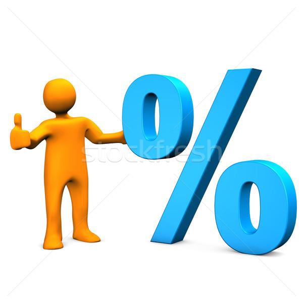 Manikin Percent Ok Stock photo © limbi007