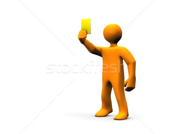 Arbitro giallo carta illustrazione sport Foto d'archivio © limbi007