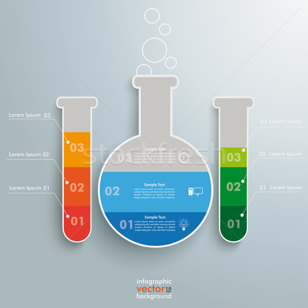 Test Tubes Infographic Stock photo © limbi007