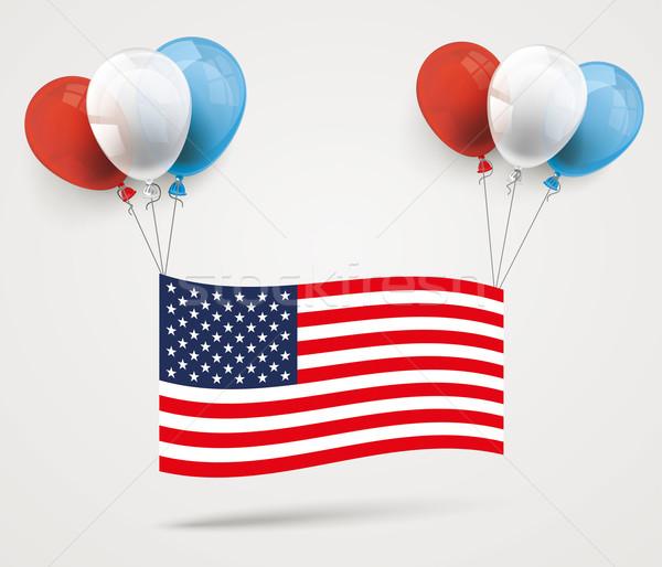 Colored Balloons US-Flag Stock photo © limbi007