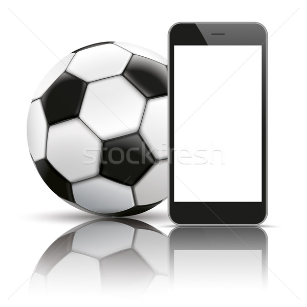 Smartphone Football Mirror Mockup Stock photo © limbi007