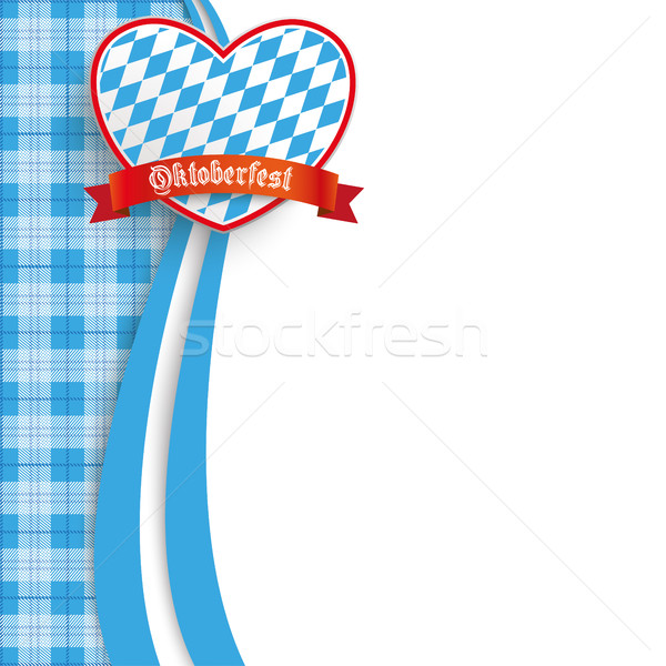 Bavarian Oktoberfest Checked Blanket Oblong Heart Stock photo © limbi007