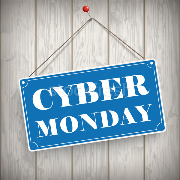 Sign Wooden Background Cyber Monday Stock photo © limbi007