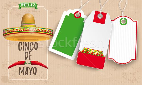 Sombrero Cinco De Mayo Chili Vintage Stock photo © limbi007