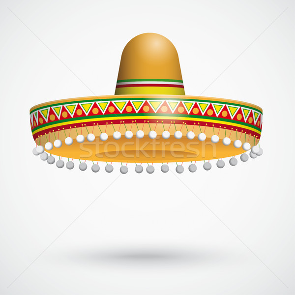 Sombrero Shadow Hanging Adornment Stock photo © limbi007