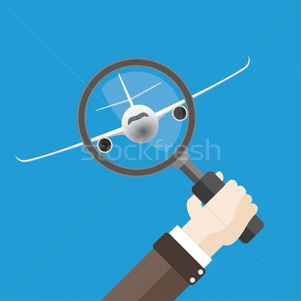 Flat Hand Loupe Flight Jet Stock photo © limbi007
