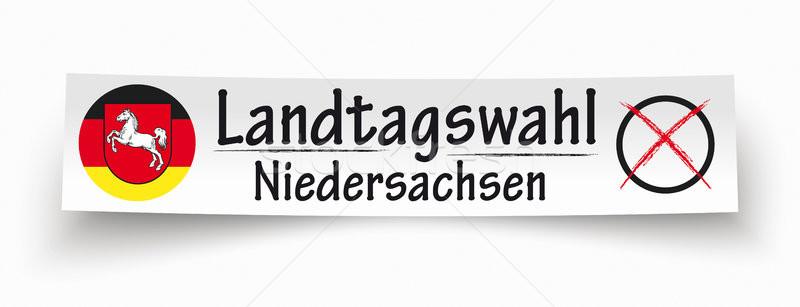 Paper Banner Landtagswahl Niedersachsen Stock photo © limbi007