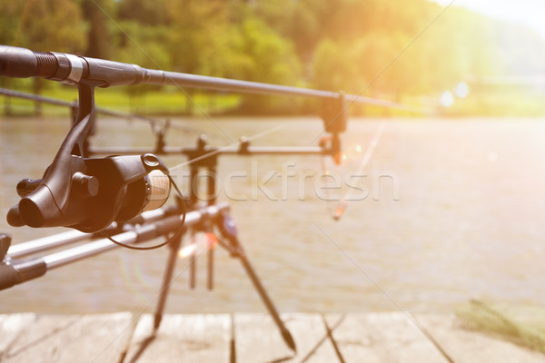 Fishing Rods On The Rod Pod Stock photo © limbi007