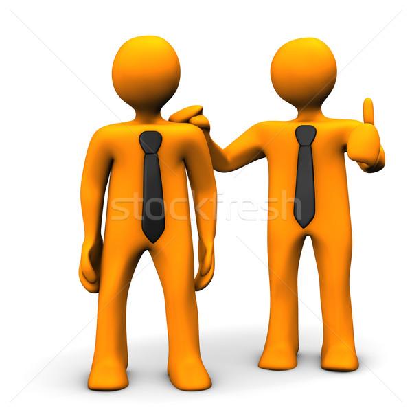 Louvor laranja homem empresário preto Foto stock © limbi007