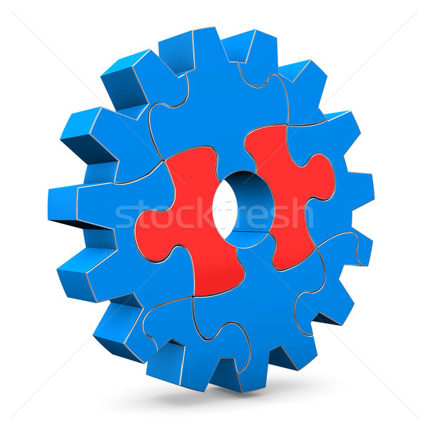 Right Puzzle Of Gear Stock photo © limbi007