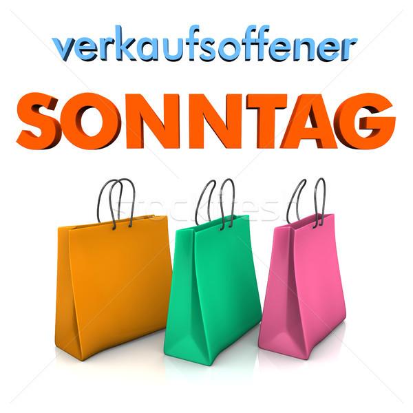 Shopping Bags Sunday Opening Stock photo © limbi007