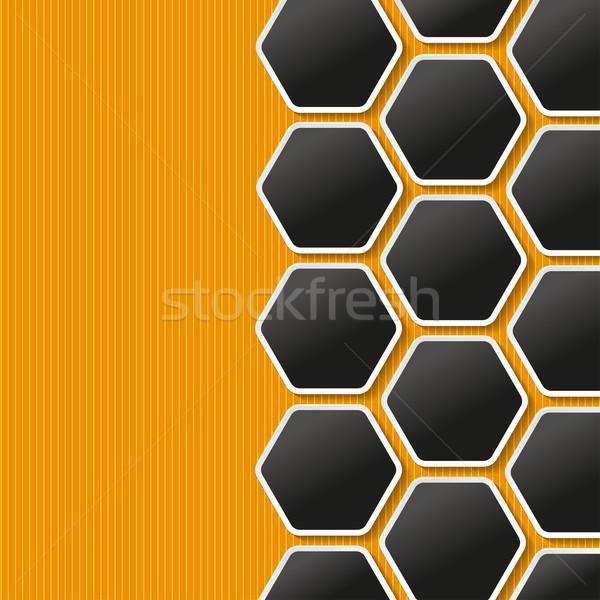 соты Этикетки оранжевый желтый прибыль на акцию Сток-фото © limbi007