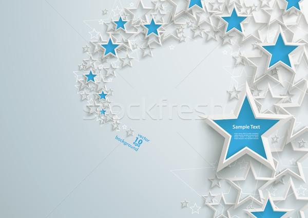 White Stars Blue Stardust Stock photo © limbi007