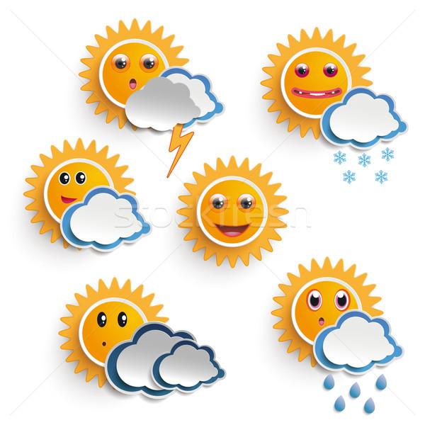 Sun Weather Faces Stock photo © limbi007
