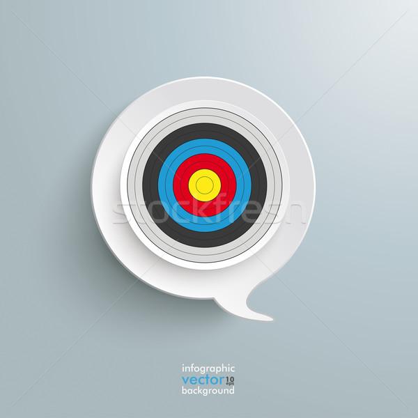 Speech Bubble Target Stock photo © limbi007
