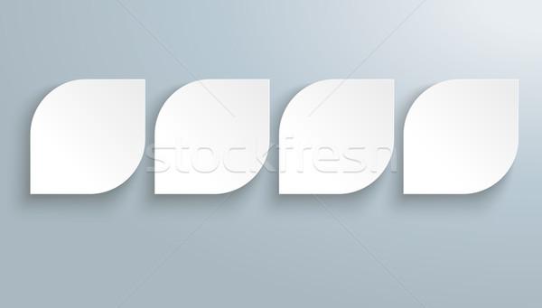 Stockfoto: Witte · papier · bladeren · sjabloon · schaduwen · grijs