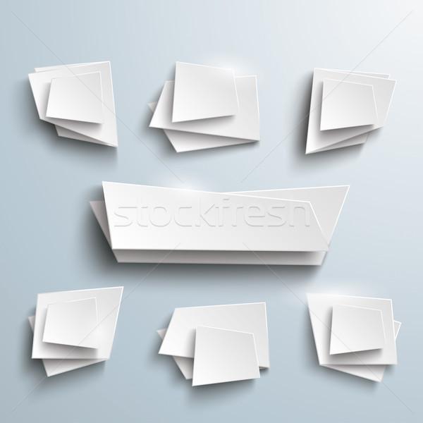 Beyaz vektör afişler merkez seçenekleri afiş Stok fotoğraf © limbi007