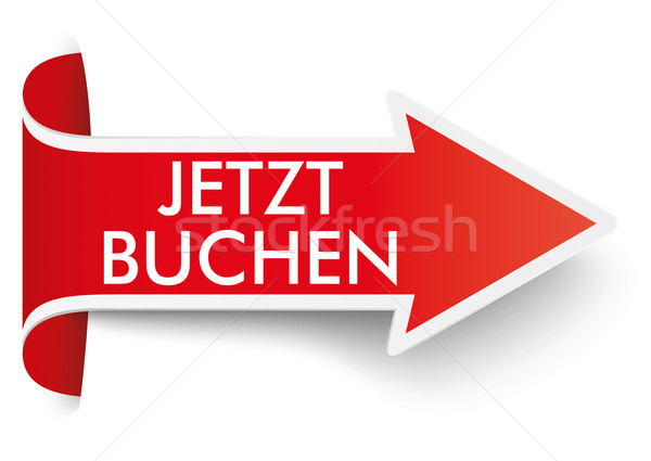 Red Convert Arrow Jetzt Buchen Stock photo © limbi007