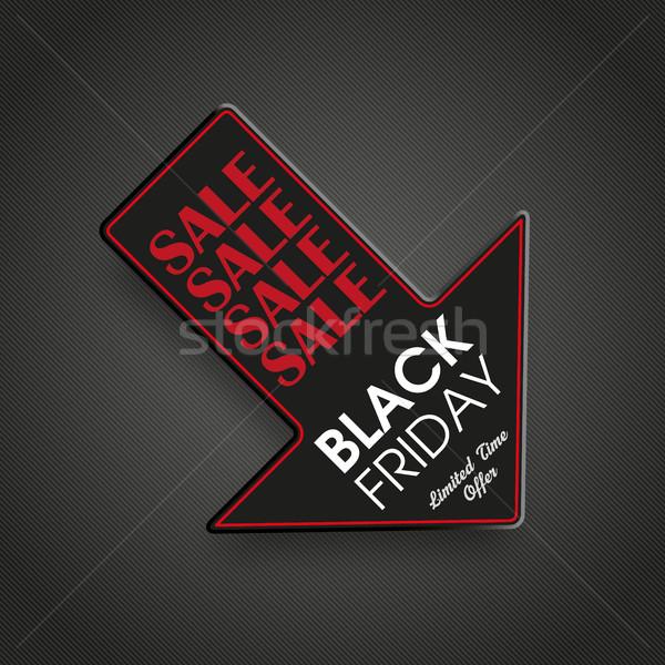 Arrow Down Black Friday Stock photo © limbi007