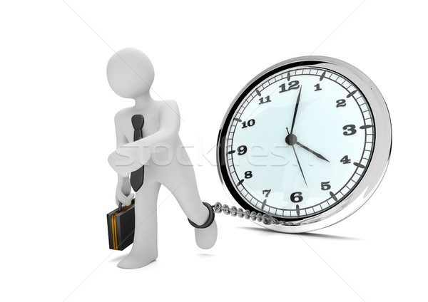Manikin Prisoner Clock Stock photo © limbi007