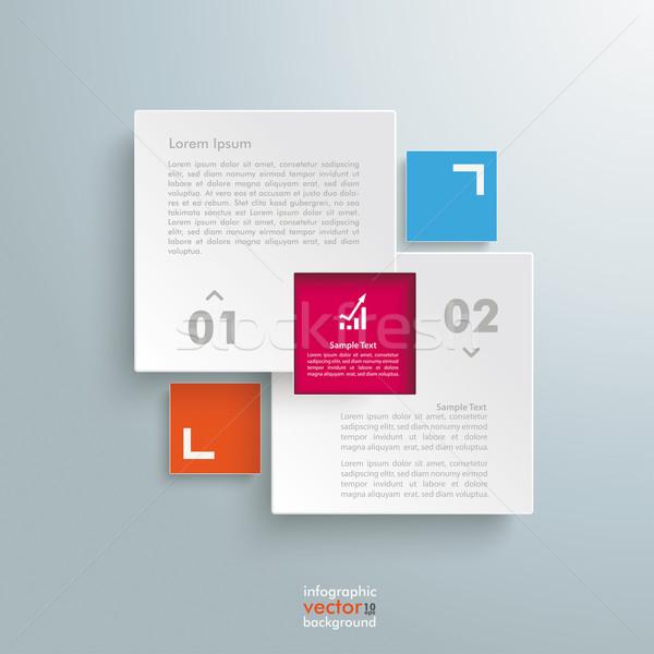 E-ticaret şablon seçenekleri dizayn gri eps Stok fotoğraf © limbi007