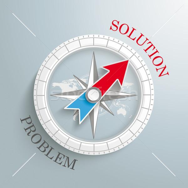 Compass Silver Background Solution Problem Stock photo © limbi007