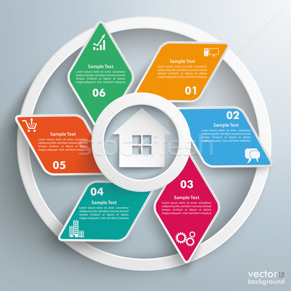House Rhombus Cycle Infographic Stock photo © limbi007