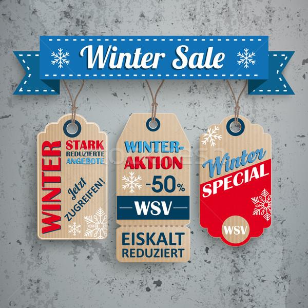 Shopping 3 Price Stickers WSV Concrete Stock photo © limbi007
