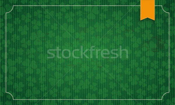 Long Vintage Frame Shamrocks Ribbon St Patricks Day  Stock photo © limbi007