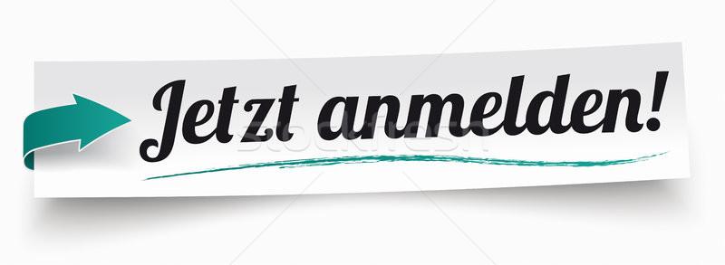 Paper Banner Ribbon Jetzt Anmelden Stock photo © limbi007