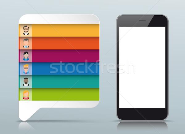 吹き出し オプション スマートフォン 長方形 紙 ストックフォト © limbi007