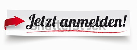 Paper Banner Deine Stimme Zaehlt Stock photo © limbi007