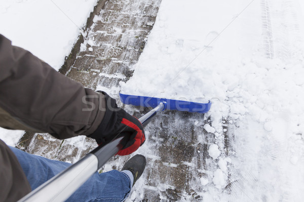 Snow Shovelling Stock photo © limbi007