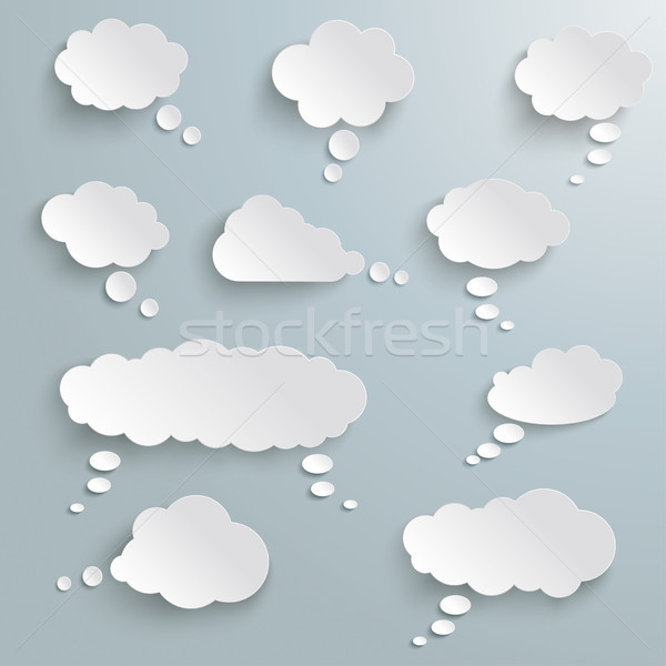 Thought Bubbles Set Clouds Stock photo © limbi007