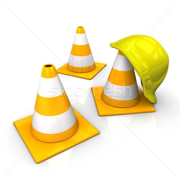 Under Construction Icon Helmet Stock photo © limbi007